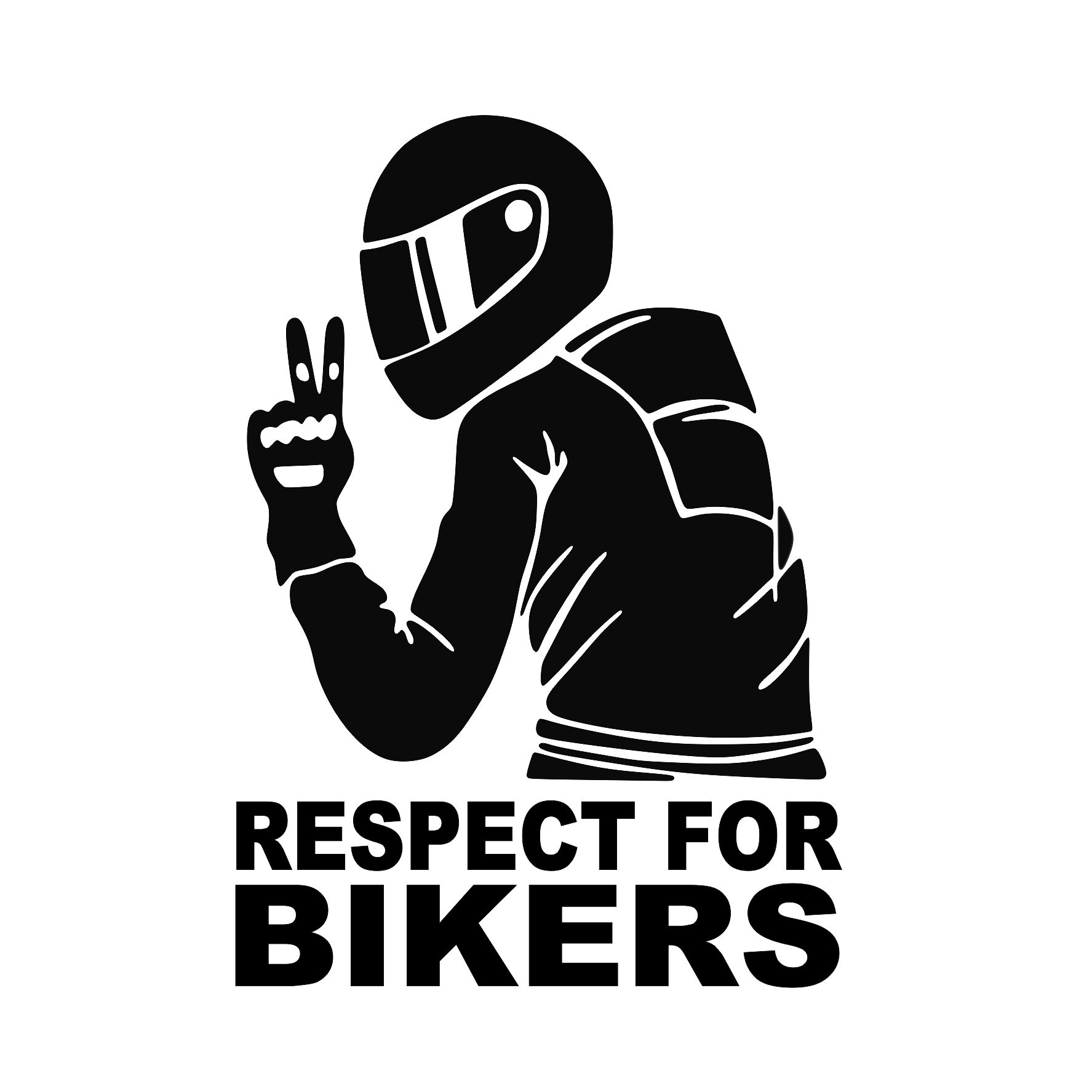 Samolepka na auto - Respect for bikers